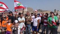 Manifestation au Liban contre l'enfouissement d'ordures en mer
