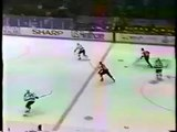 Eric Lindros sends Slava Fetisov back to Moscow with a great hit (1994)
