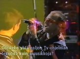 U2 Bono & Larry in interview about Popmart Finnish subs