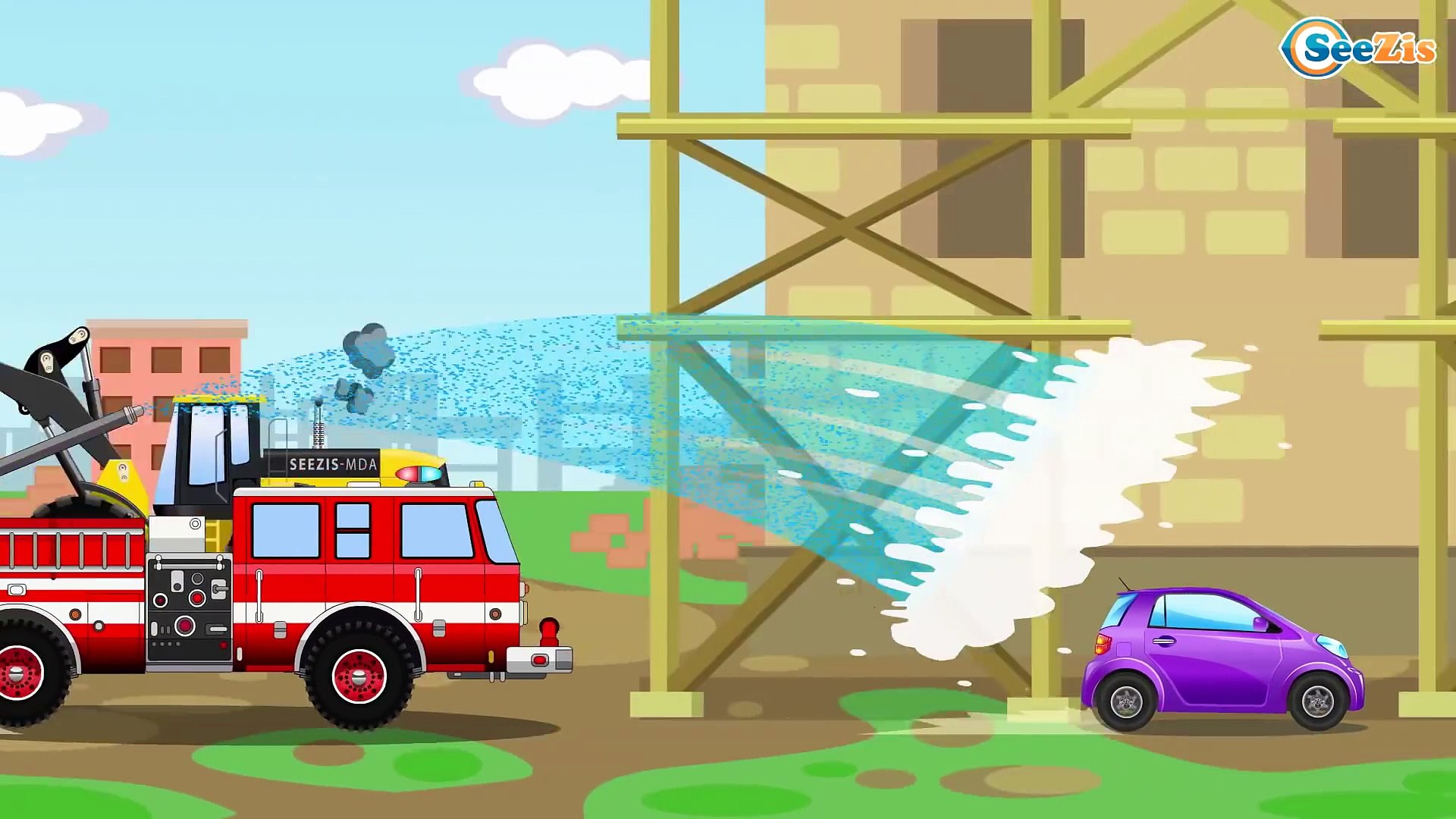 Ambulance Car Chase w Police Car Catching Race Cars 3D Animation Cars & Truck Emergency Cartoons