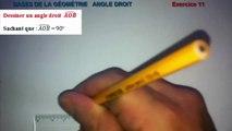 Maths 6ème - Les Bases De La Géométrie : Angle droit Exercice 11