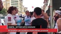 Cevizlibağ'da zabıta - seyyar satıcı kavgası