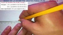 Maths 6ème - Les Bases De La Géométrie : Droites parallèles Exercice 4