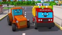 Forte Trator e Pequeno Carros  na Cidade | Video Para Criançinhas | Desenho animado para crianças