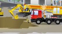 Kids Car Video & Tractor w Excavator Bulldozer and Truck Big Vehicles 2D Cars & Trucks Cartoon
