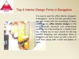 Top Interior Design Firms in Bangalore