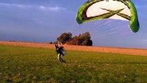 Décollage / atterrissage paramoteur vent faible 5km/h