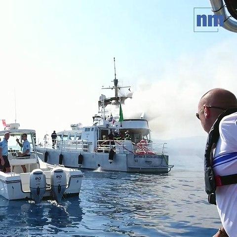 Un yacht prend feu au large de l'aéroport de Nice, 11 personnes à bord