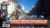 """Barcelone - Une fourgonnette percute la foule sur les Ramblas - La police confirme """"une attaque terroriste"""""""