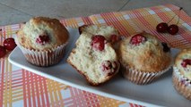 Muffins Moelleux aux Cerises - Cherry Muffins - مافين حب الملوك