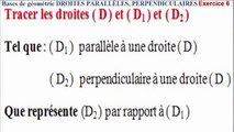Maths 6ème - Les Bases De La Géométrie : Droites parallèles et perpendiculaires Exercice 6