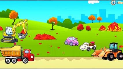 ✔ Carros Para Niños | Camión, Tractor, Excavadora | Caricaturas de carros. Tiki Taki Carros 10 min ✔