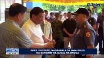 Pangulong Duterte, nagbabala sa mga pulis na sangkot sa iligal na droga