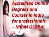 Accredited Online Degrees and Courses in India