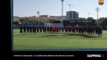 Attentat de Barcelone : Le FC Barcelone observe une minute de silence en hommage aux victimes (vidéo)