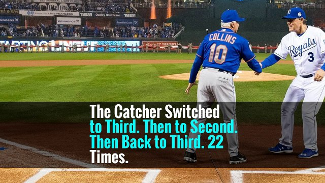 The Catcher Switched to Third. Then to Second. Then Back to Third. 22 Times.