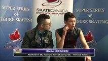 Novice Men Free Skating - 2017 Super Series Summer Skate - Skate Canada Rink