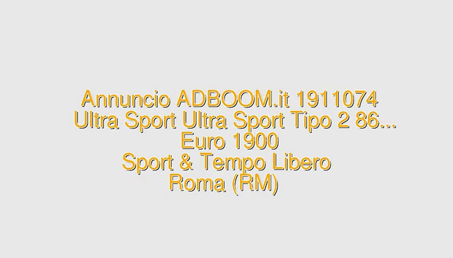 Ultra Sport Ultra Sport Tipo 2 86...