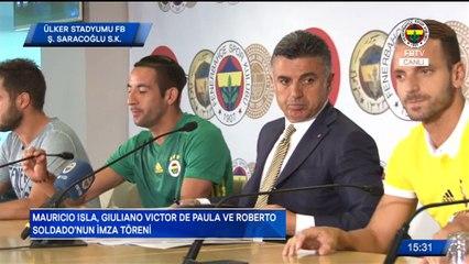 Isla, Soldado ve Giuliano için imza töreni düzenlendi. #FBTV