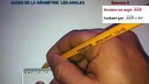 Maths 6ème - Les Bases De La Géométrie : Les Angles Exercice 8