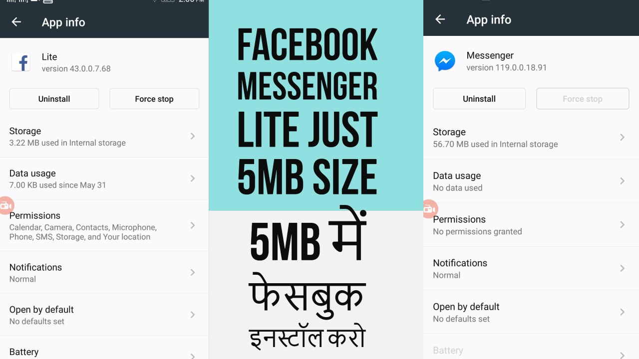 Facebook Messenger Lite APK Latest Android App 2017 (Just 5MB Size)