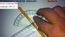Maths 6ème - Les Bases De La Géométrie : Angle aigu Exercice 10
