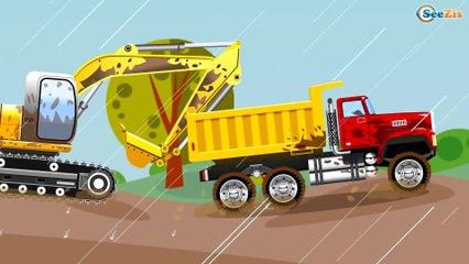 Le Camion benne curieux et les camions dessin animé - 40 MIN Compil   Dessins animés en francais
