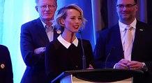 Peter Watts and Karine Vanasse at Uranium Film Festival Quebec 2015 720 x 480