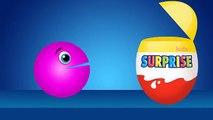 Enfants les couleurs couleurs des œufs joie enfants Apprendre enseigner à Il se balader Pacman kinder surprise |