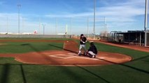 Michael Brantley., Jason Kipnis, Austin Jackson swing away in simulated game.