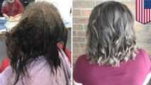 Makeover rambut; remaja depresi mendapatkan rambut baru yang keren - TomoNews