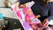 Bébé née les créations fille déballage Zapf