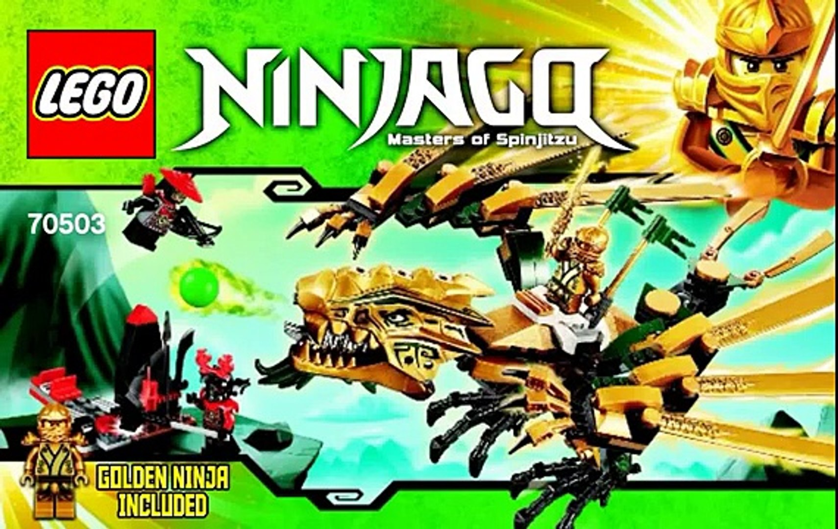 The Golden Dragon Lego Ninjago Set 70503 Time Lapse Build Unboxing Review Video Dailymotion