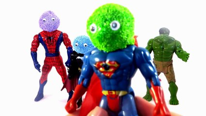 Finger Family Song Learn Colors Foam Superhero Surprise Toys Hulk Spiderman Batman Elsa.