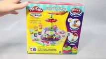 Biscuits petit gâteau jouer la tour jouets Cup Cake ombre Faire jouer doh Playset jouets pâte à modeler, jouer la nourriture плей до игр