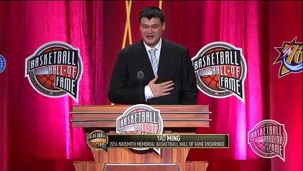 Yao Mings Basketball Hall of Fame Enshrinement Speech