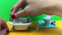 Cuarto de baño Japonés cocina vivo sala de esqueleto juguetes plantear Re-Ment plantear esqueleto humano Re-Ment