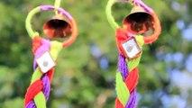 Pájaro arte decoración Bricolaje Casa Casa nido de lana hilo Jerarquía del pájaro Walhanging |