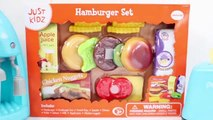 Épicerie fine chien pâte vite rapide aliments français frites chaud jouer Ensemble Burger doh hamburger playdough plastili
