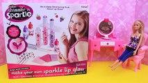 Lèvre brillant maquillage fabricant bricolage faire votre propres lèvre baume produits de beauté et autocollants filles jouet examen