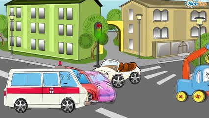✔ Ambulancia, Coche de policía | Carritos Para Niños. Caricaturas de carros. Tiki Taki Carros 10 min