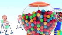 Bébé Bonbons enfants les couleurs couleurs pour enfants Apprendre les tout-petits avec 3d GUMBALL 123