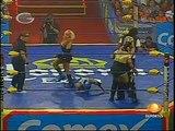 AAA-Sin Limite 2009.06.20 Orizaba 01 Aero Star, Fabi Apache & Mari Apache vs. Billy Boy, Cynthia Moreno & Sexy Star