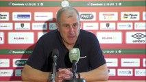 Réaction d'Alain Casanova et Jean-Marc Furlan après RC Lens - Stade Brestois 29