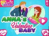 Bebé congelado enamorado en frío corazón de Anna, Anna da a luz a Día de San Valentín
