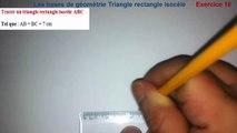 Maths 6ème - Les Bases De La Géométrie : Le triangle rectangle isocèle Exercice 18