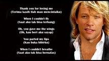 Thank You For Loving Me Bon Jovi Lyrics (Terjemahan Indonesia)