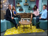 Samantha Mumba in leather skirt on The Six OClock Show April 2017