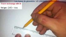 Maths 6ème - Les Bases De La Géométrie : Le losange Exercice 20