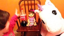 Baby Alive Snackin Sara Doll Eats Real Baby Alive Food!